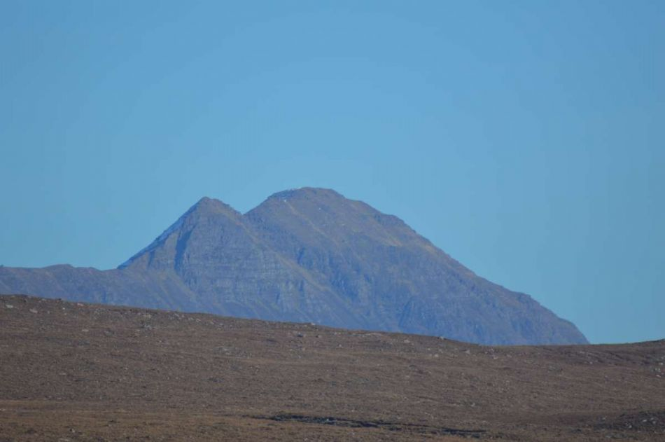 Distant view of Beinn Bhreac from the house